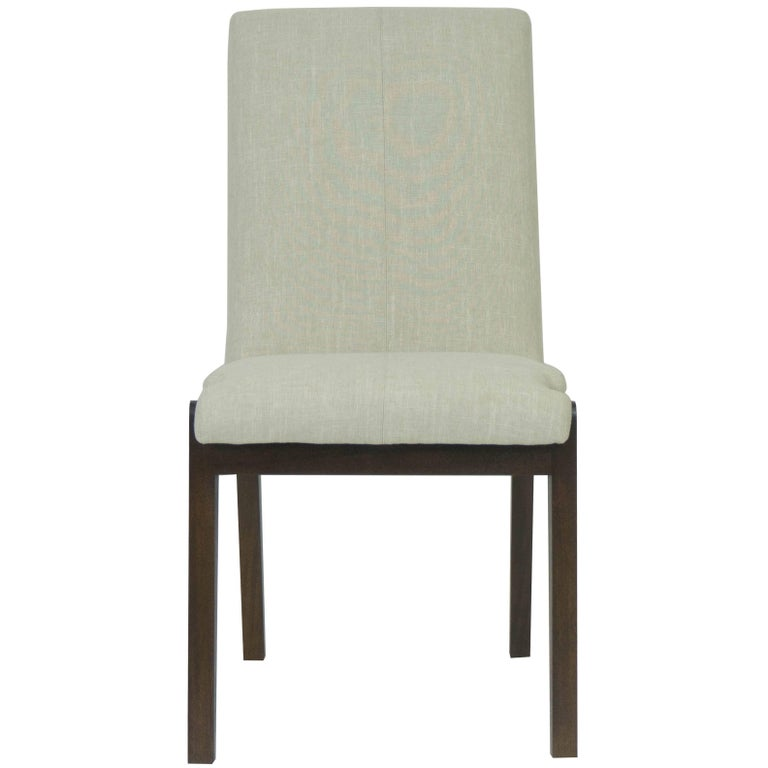 Tall Casual Upholstered Dining Chair For Sale