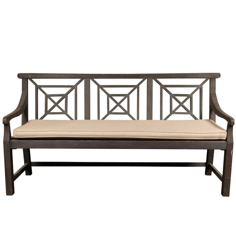 Restoration hardware saltram triple back teak bench at for Restoration hardware teak outdoor furniture
