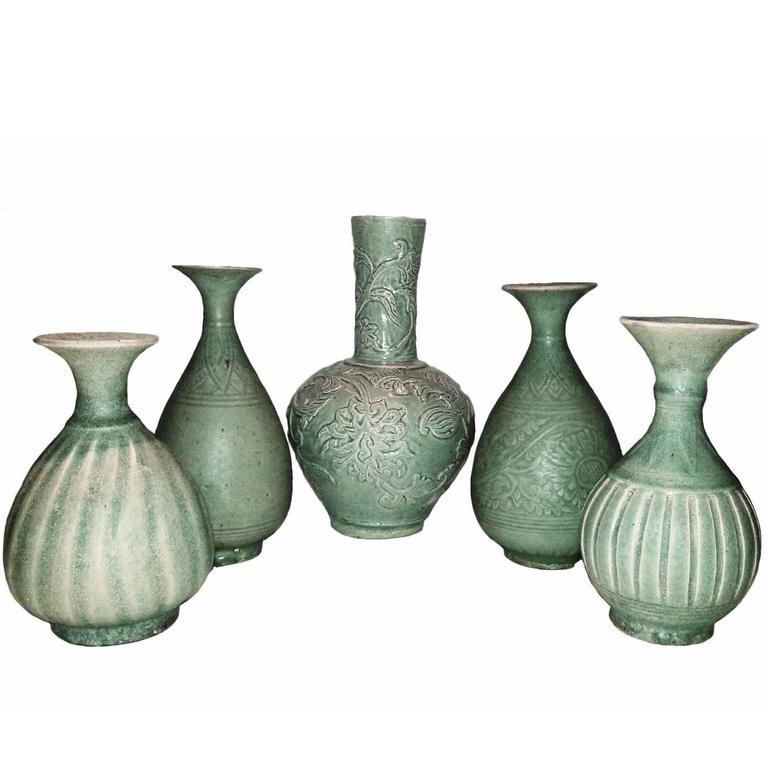Selection of Thai Ceramic Vases