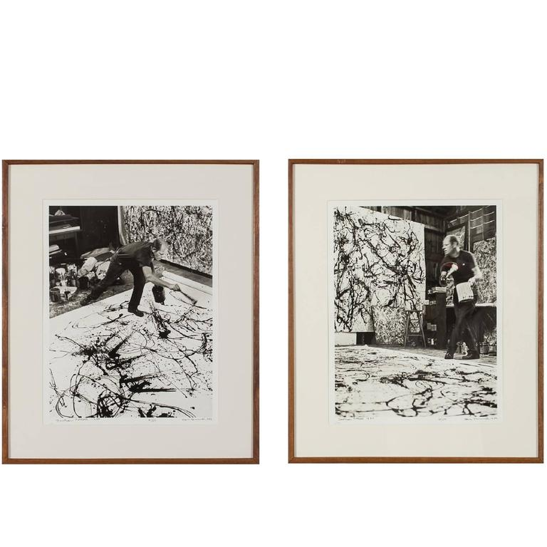 Pair of Photograph of Jackson Pollock by Hans Namuth