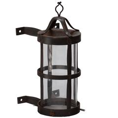 Wrought Iron Wall Lantern by Alfred Buck