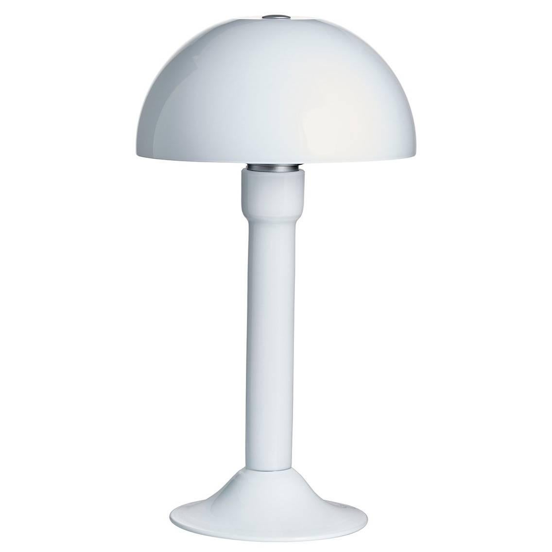 Good Cupola Carlo Moretti Contemporary Mouth Blown Murano Milk Glass Table Lamp