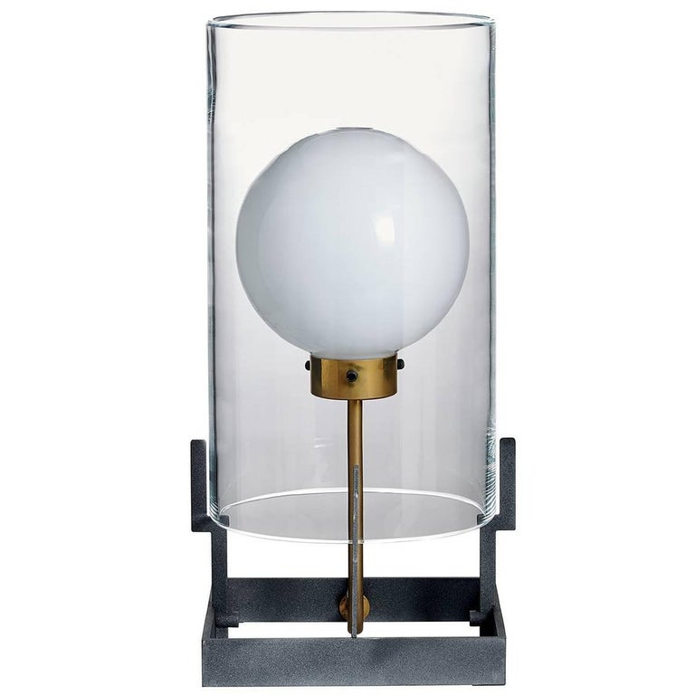 Quati Carlo Moretti Contemporary Mouth Blown Clear Murano Glass Table Lamp