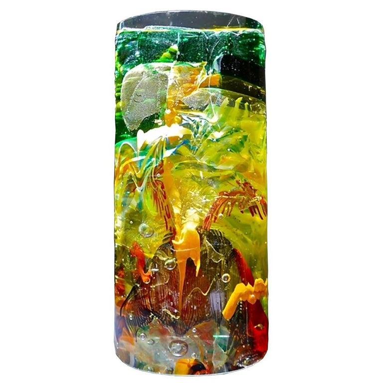 Monoliti Magma Carlo Moretti Murano Glass Sculpture For Sale