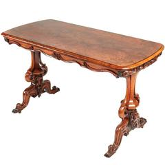 Outstanding Victorian Burr Walnut Centre Table