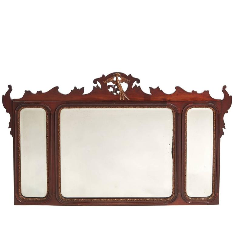 Large Georgian Style Mahogany Wall Mirror For Sale At 1stdibs