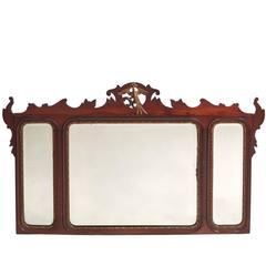 Large Georgian Style Mahogany Wall Mirror