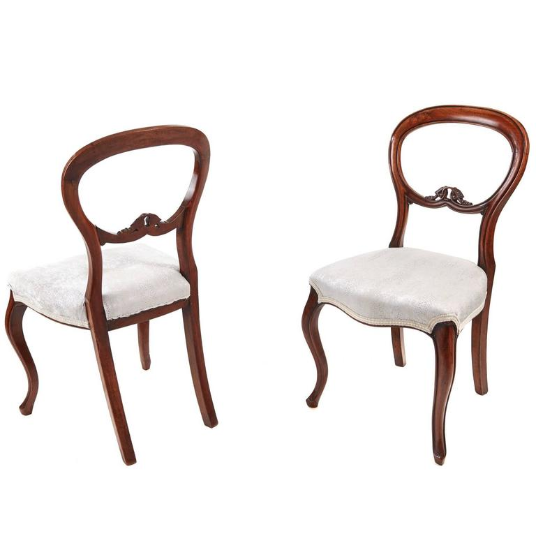 Pair Of Victorian Balloon Back Chairs 1