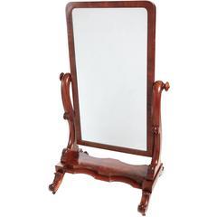 Attractive Antique Mahogany Carved Mirror