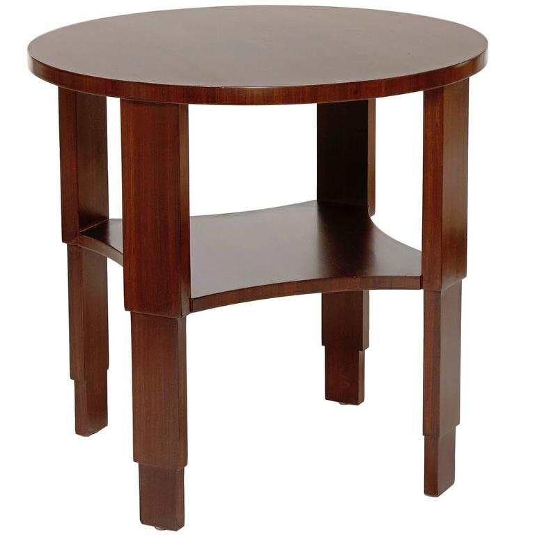 Sculptural Centre or Side Table Brazilian Rosewood by Eugène Printz