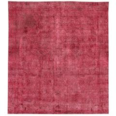 Beautifully Designed Square Overdyed Rug