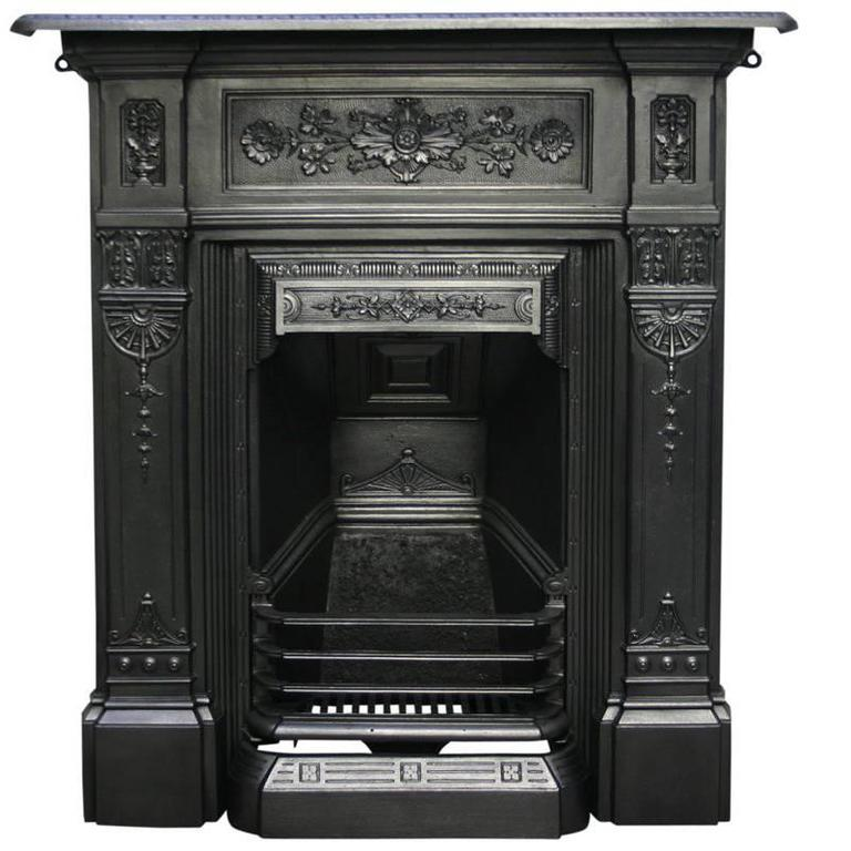 Antique Vintage Bedroom Fireplace: Antique Late Victorian Cast Iron Bedroom Fireplace At 1stdibs