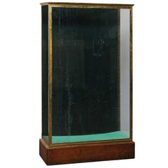 Early 20th Century Large Bronze and Glass Vitrine Cabinet
