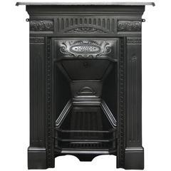 Antique Edwardian Cast Iron Art Nouveau Bedroom Fireplace