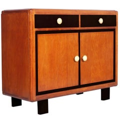 Early 20th Century Art Deco Cupboard, Two Drawers by Meroni & Fossati, Lissone