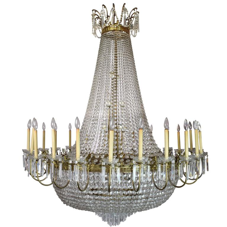 Large Italian Crystal Chandelier