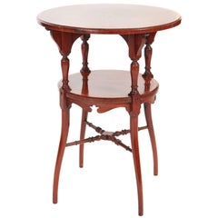 Fine Quality Inlaid Rosewood Two-Tier Occasional Table