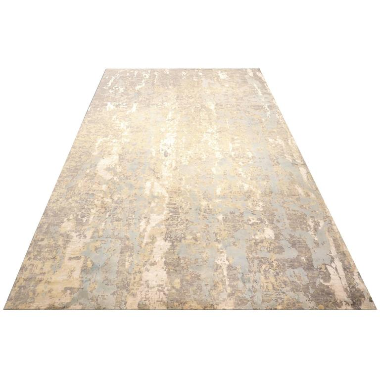 Wool Silk Rugs Contemporary: Modern Rug, Contemporary And Abstract Design In Silk And