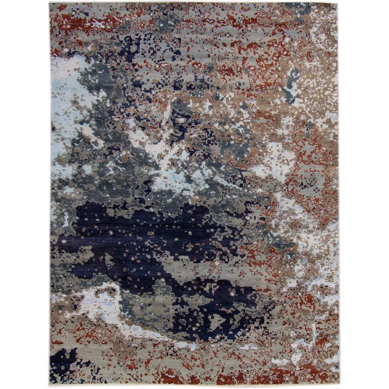 Zeitgenössischer indischer Teppich 1