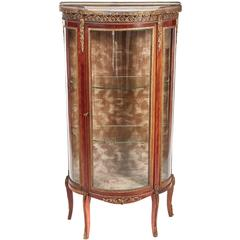 French Mahogany and Glided Brass Vitrine