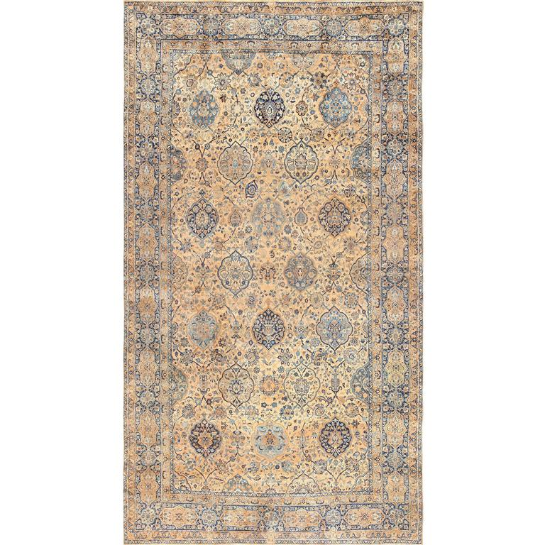 Oversized Antique Kerman Persian Rug For