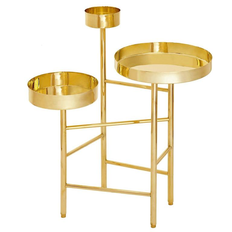 Brass Side Table 6A, OCD Collection For Sale