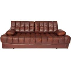 Brown Leather De Sede DS85 Sofa Bed/Daybed