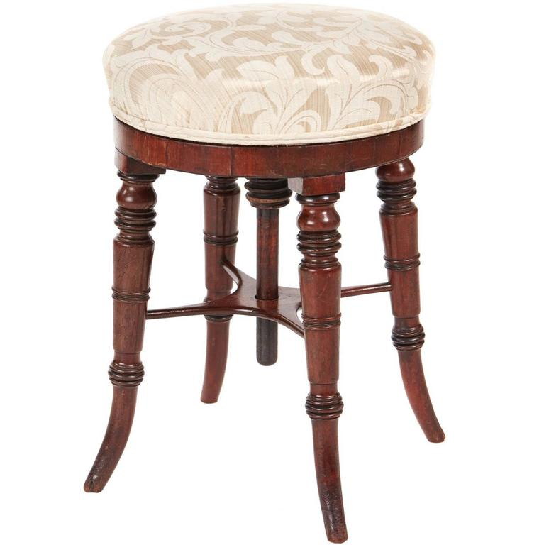 Victorian Rosewood Stool For Sale At 1stdibs