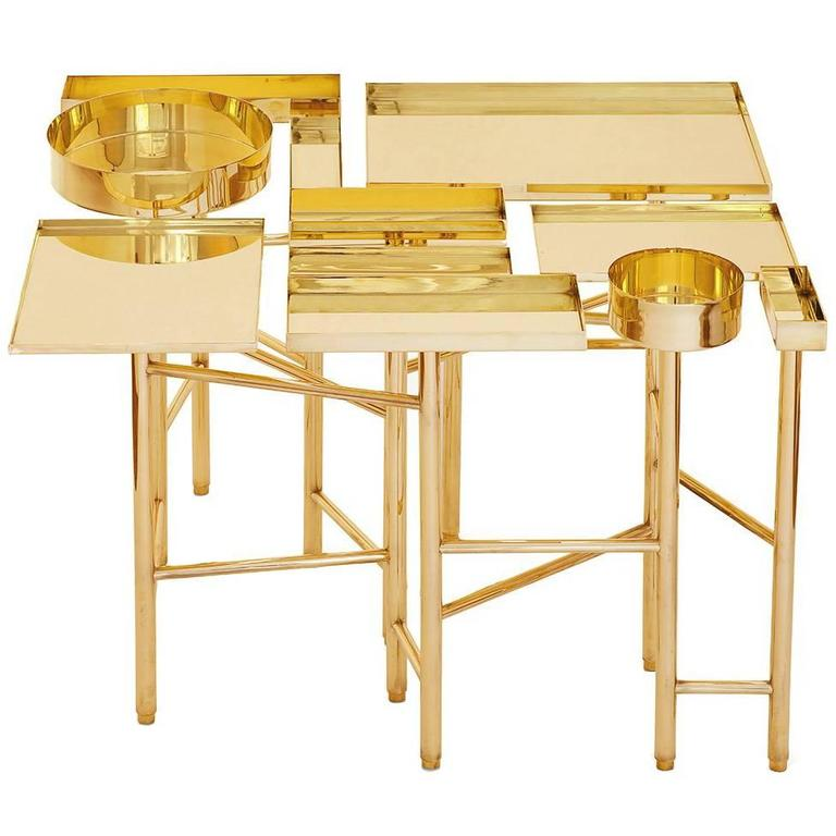OCD Collection, Brass Side Table 2A For Sale