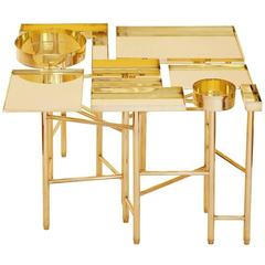 OCD Collection, Brass Side Table 2A