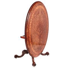 Fine Burr Walnut Inlaid Centre Table