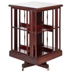 Mahogany Inlaid Revolving Bookcase