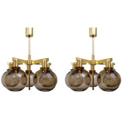Pair of Hans-Agne Jakobsson Ceiling Lamps Model T348/5 'Pastoral', 1960s
