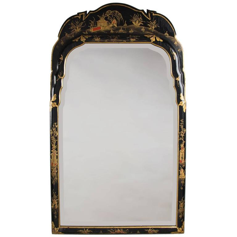 Edwardian chinoiserie black lacquered mirror england for Mirrors to purchase