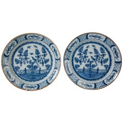 Pair Delft Blue and White Chargers