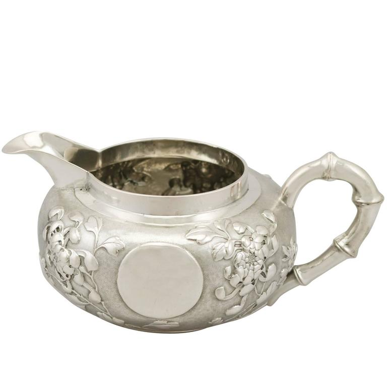 1900s Chinese Export Silver Cream Jug