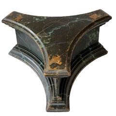 French Directoire Faux Marble Original Painted Tri-Form Low Stand, circa 1790