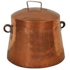 Spanish 18th Century Lidded Copper Pot