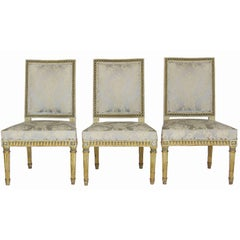 Set of Three Giltwood Louis XVI Style Chairs