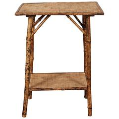 Small English Bamboo Table