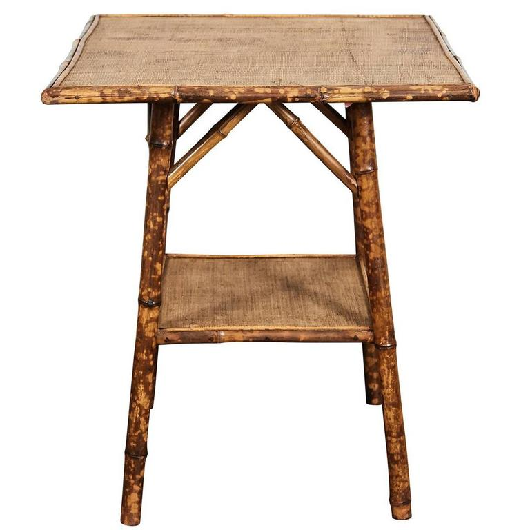 Victorian Tiger Bamboo Table