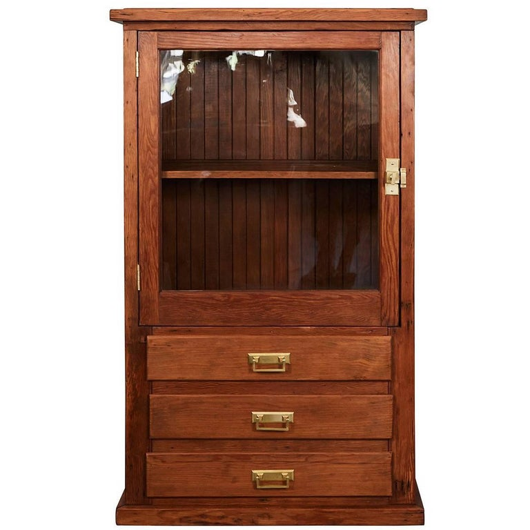 Early 20th Century Pine Cabinet