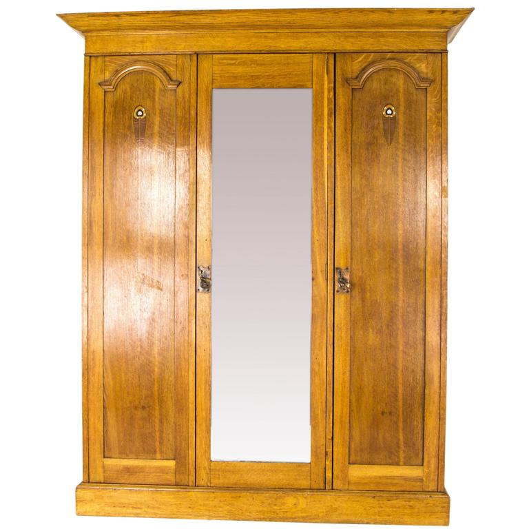 Antique Armoire, Arts & Crafts Wardrobe, Scotland 1910, Antique Furniture,  B717 For - Antique Armoire, Arts And Crafts Wardrobe, Scotland 1910, Antique