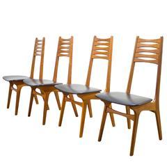 Set of Four Niels Møller Model #83 Teak Chairs for Boltinge Stolefabrik