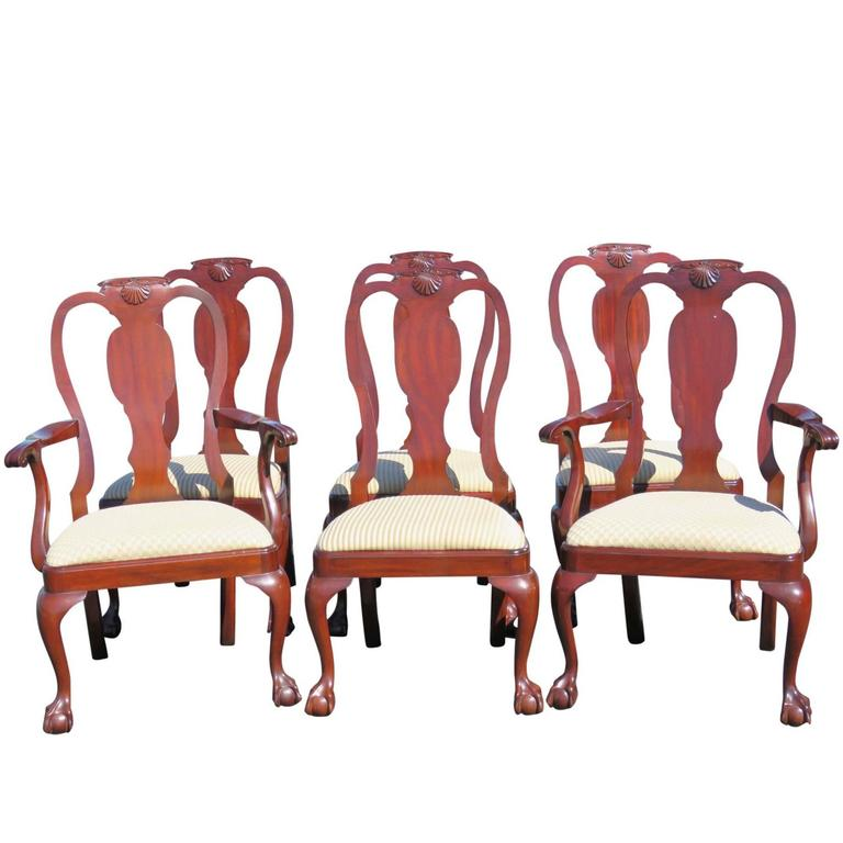 Charmant Six Henkel Harris Mahogany Dining Chairs For Sale