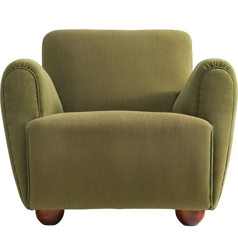 Sturdy Olive Green European Armchair, 1950s For Sale at ...