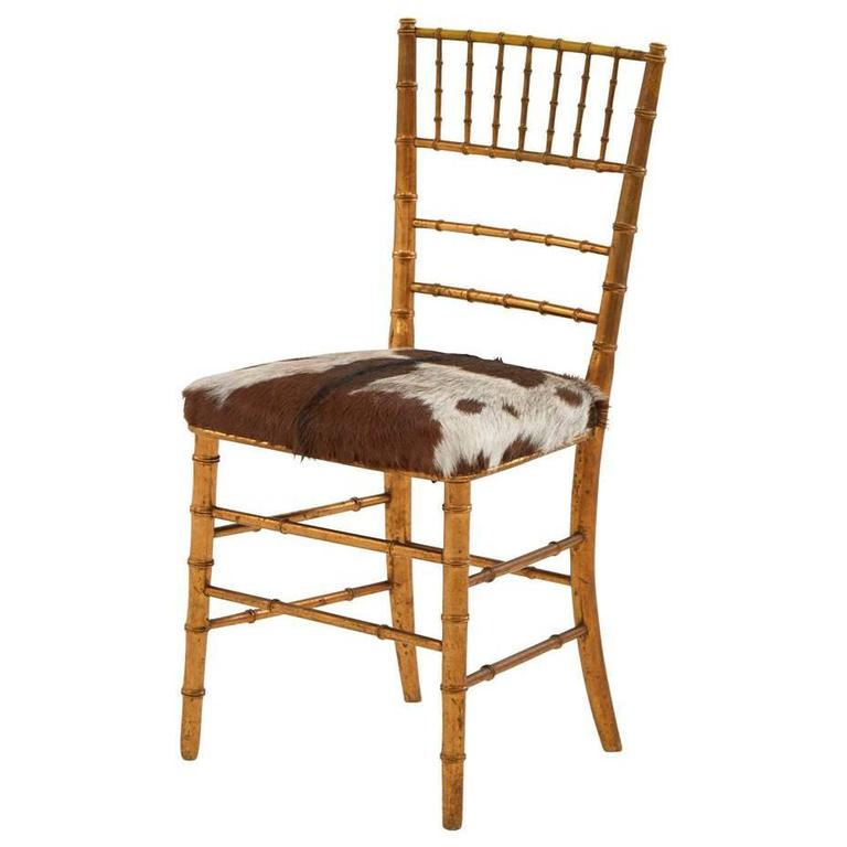 Gilt Faux Bamboo Chair At 1stdibs