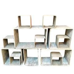 12 Piece Willy Guhl Modular Cement Bookcase