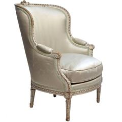 Louis XVI Style Bergere Chair, French, circa 1920