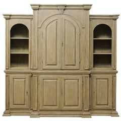 Large Sized Brazilian Painted Wood Cabinet Constructed from Reclaimed Wood